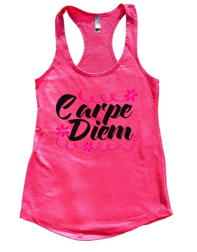 Carpe Diem Womens Workout Tank Top Funny Shirt Small / Hot Pink