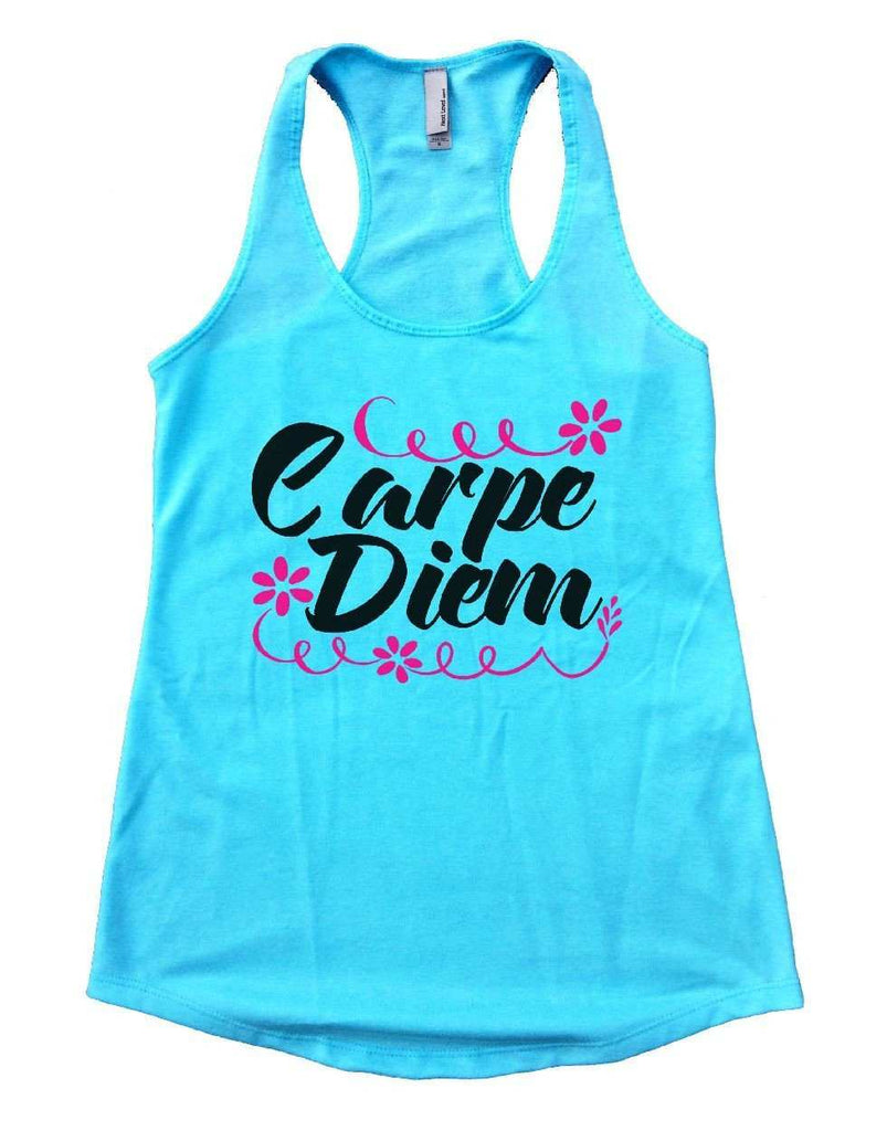 Carpe Diem Womens Workout Tank Top Funny Shirt Small / Cancun Blue