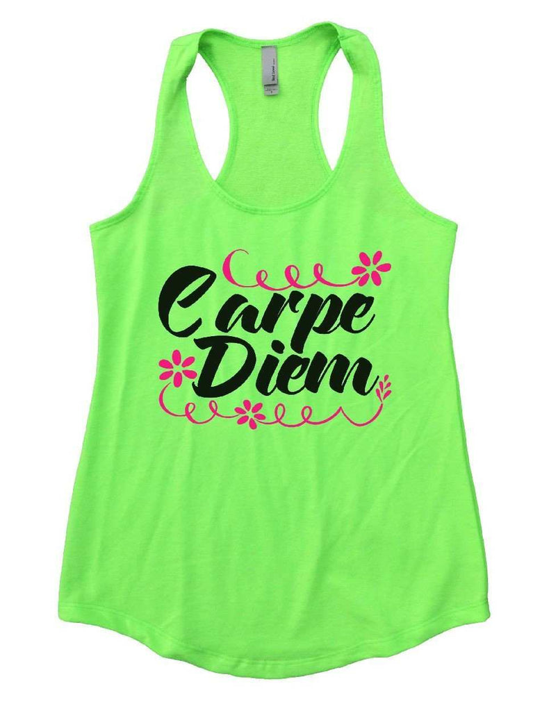 Carpe Diem Womens Workout Tank Top Funny Shirt Small / Neon Green