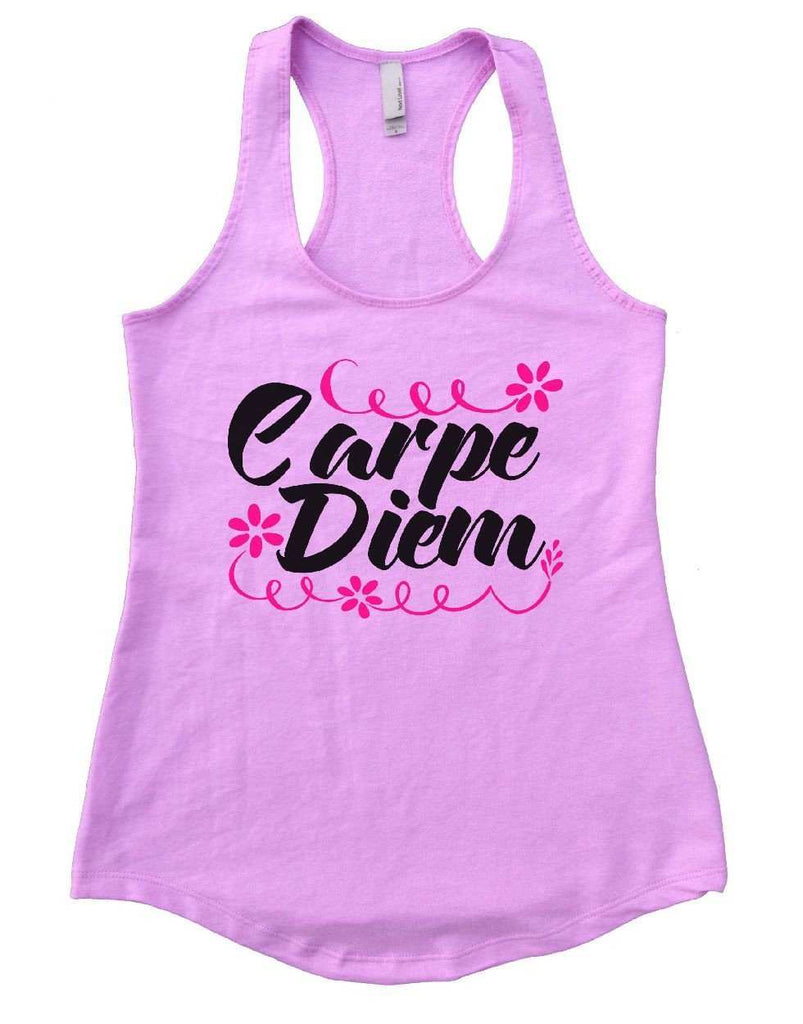 Carpe Diem Womens Workout Tank Top Funny Shirt Small / Lilac