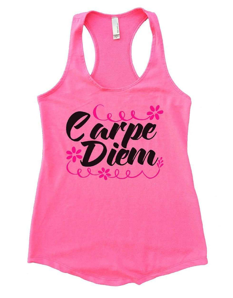 Carpe Diem Womens Workout Tank Top Funny Shirt Small / Heather Pink