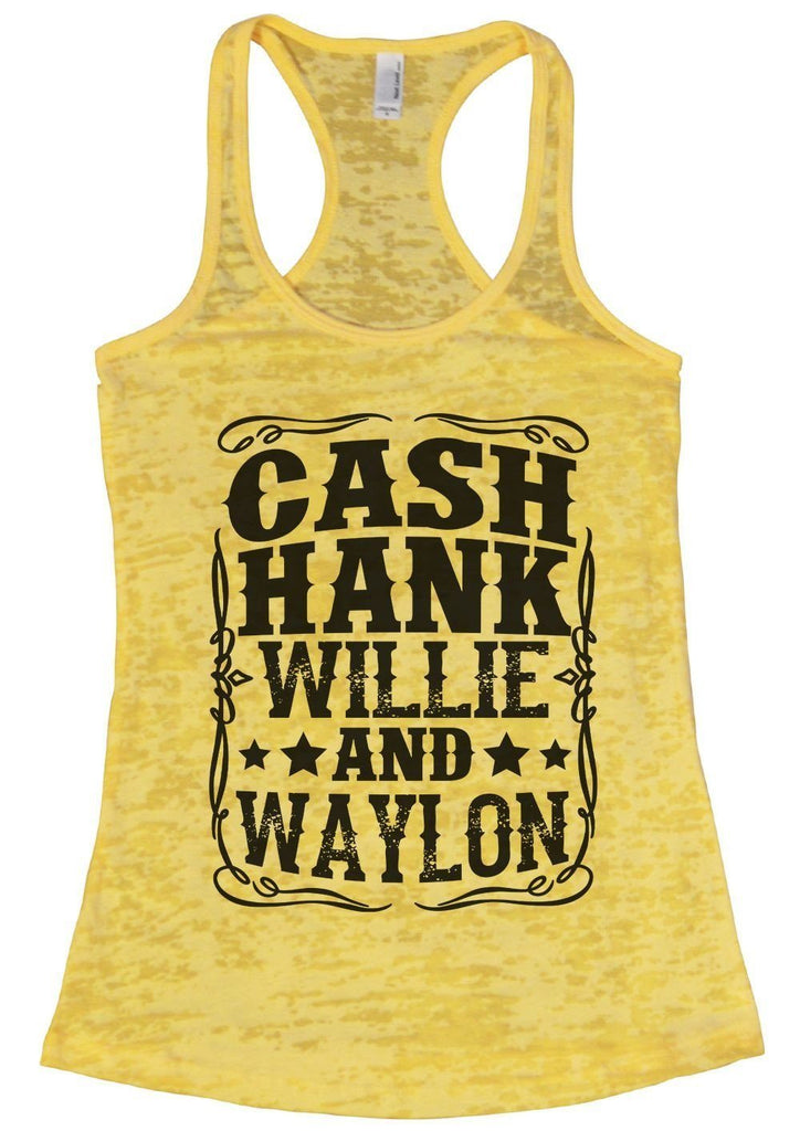 CASH HANK WILLIE AND WAYLON Burnout Tank Top By Funny Threadz Funny Shirt Small / Yellow