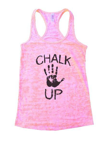 Chalk Up Burnout Tank Top By Funny Threadz Funny Shirt Small / Light Pink