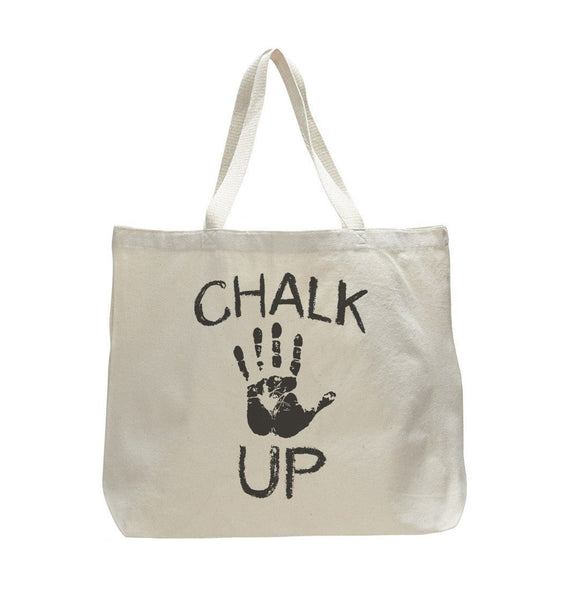 Chalk Up - Trendy Natural Canvas Bag - Funny and Unique - Tote Bag Funny Shirt