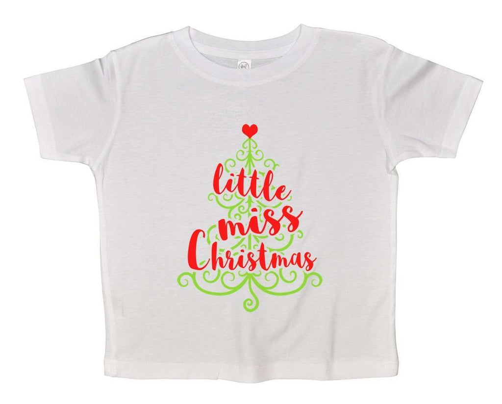 Christmas bodysuits - Little Miss Christmas FUNNY KIDS bodysuit Funny Shirt 2T White Shirt