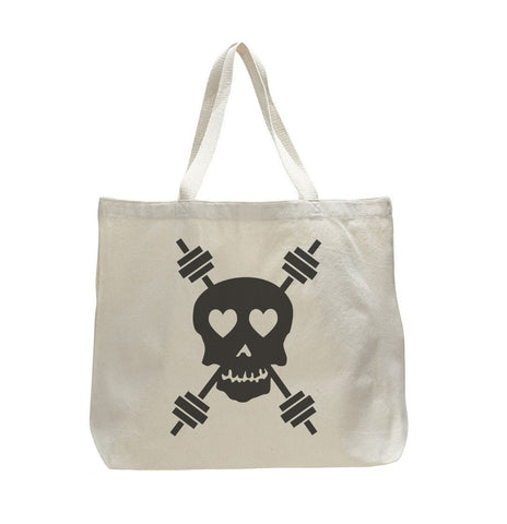 chalk up trendy natural canvas bag funny and unique tote bag