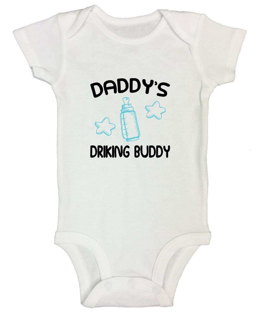 Daddy's Drinking Buddy Funny Kids Onesie Funny Shirt Short Sleeve 0-3 Months