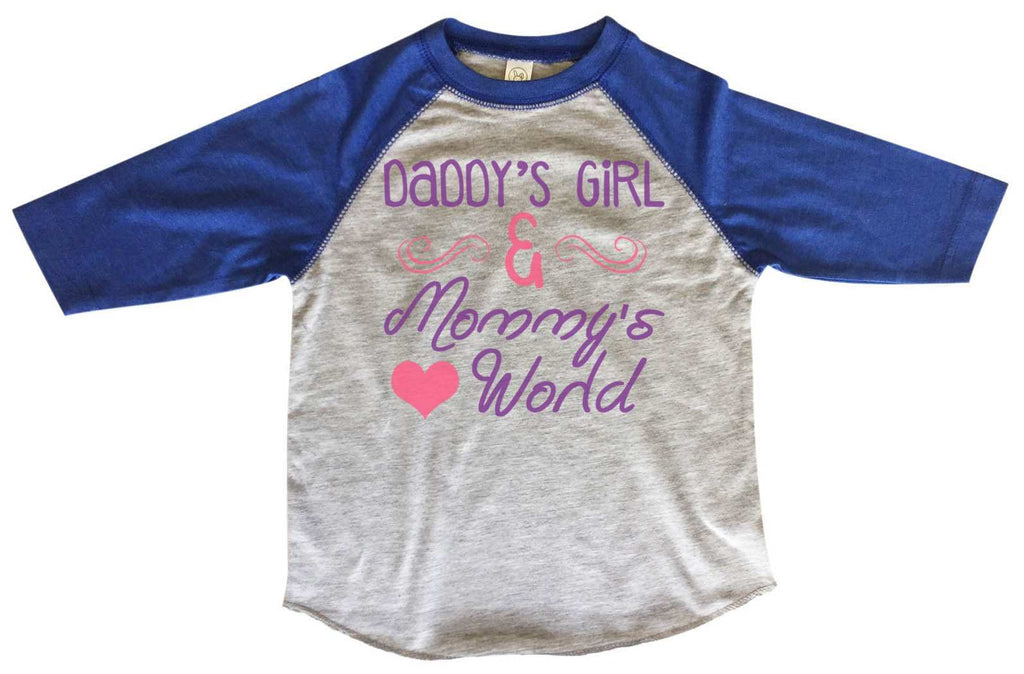 Daddy's Girl & Mommy's World BOYS OR GIRLS BASEBALL 3/4 SLEEVE RAGLAN - VERY SOFT TRENDY SHIRT B704 - FunnyThreadz.com