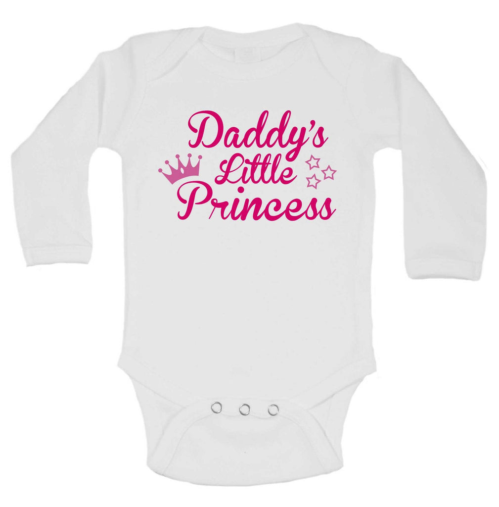 Daddy's Little Princess Funny Kids Onesie Funny Shirt Long Sleeve 0-3 Months