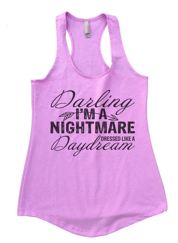 Darling I'm A Nightmare Dressed Like A Daydream Womens Workout Tank Top Funny Shirt Small / Lilac