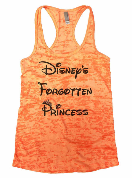 Disney's Forgotten Princess Burnout Tank Top By Funny Threadz Funny Shirt Small / Neon Orange