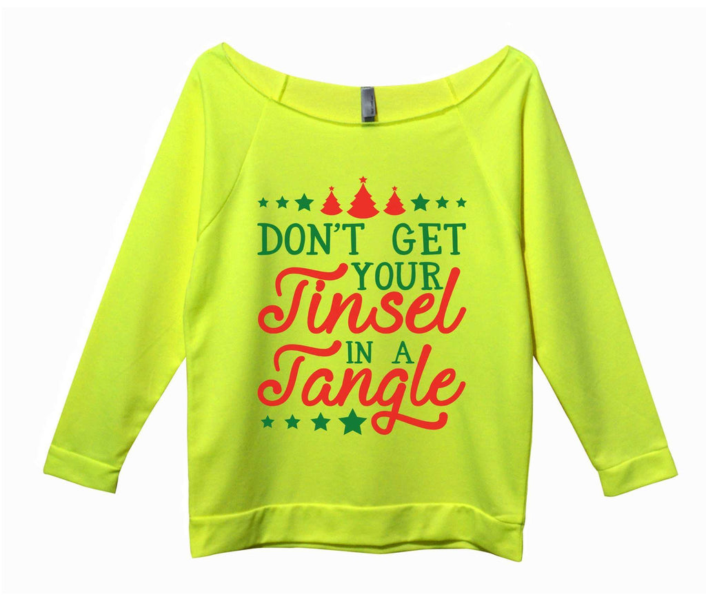 Don't Get Your Tinsel In A Tangle Womens 3/4 Long Sleeve Vintage Raw Edge Shirt - FunnyThreadz.com