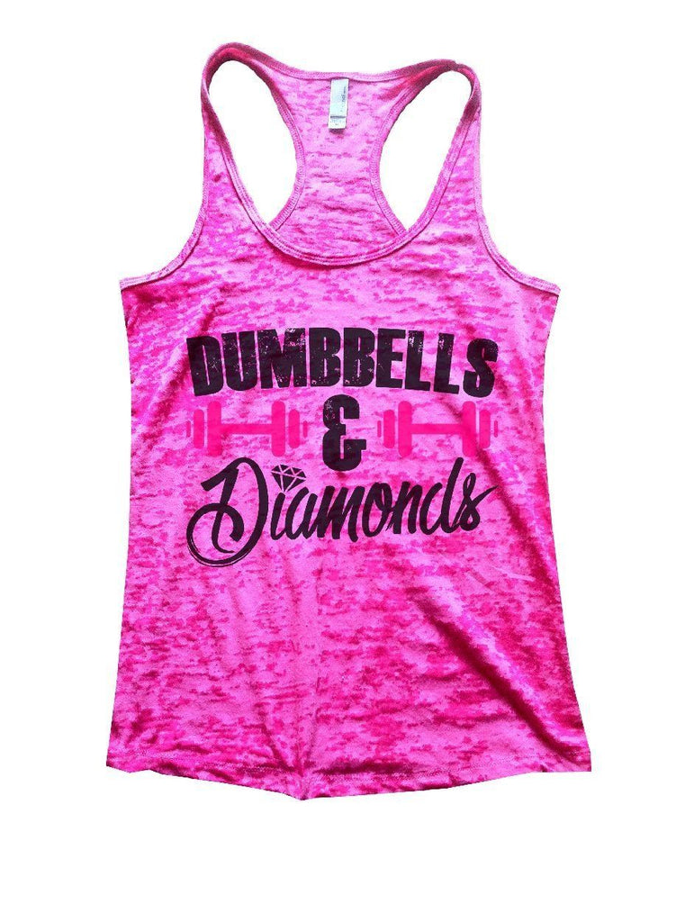 DUMBBELLS & Diamonds Burnout Tank Top By Funny Threadz Funny Shirt Small / Shocking Pink