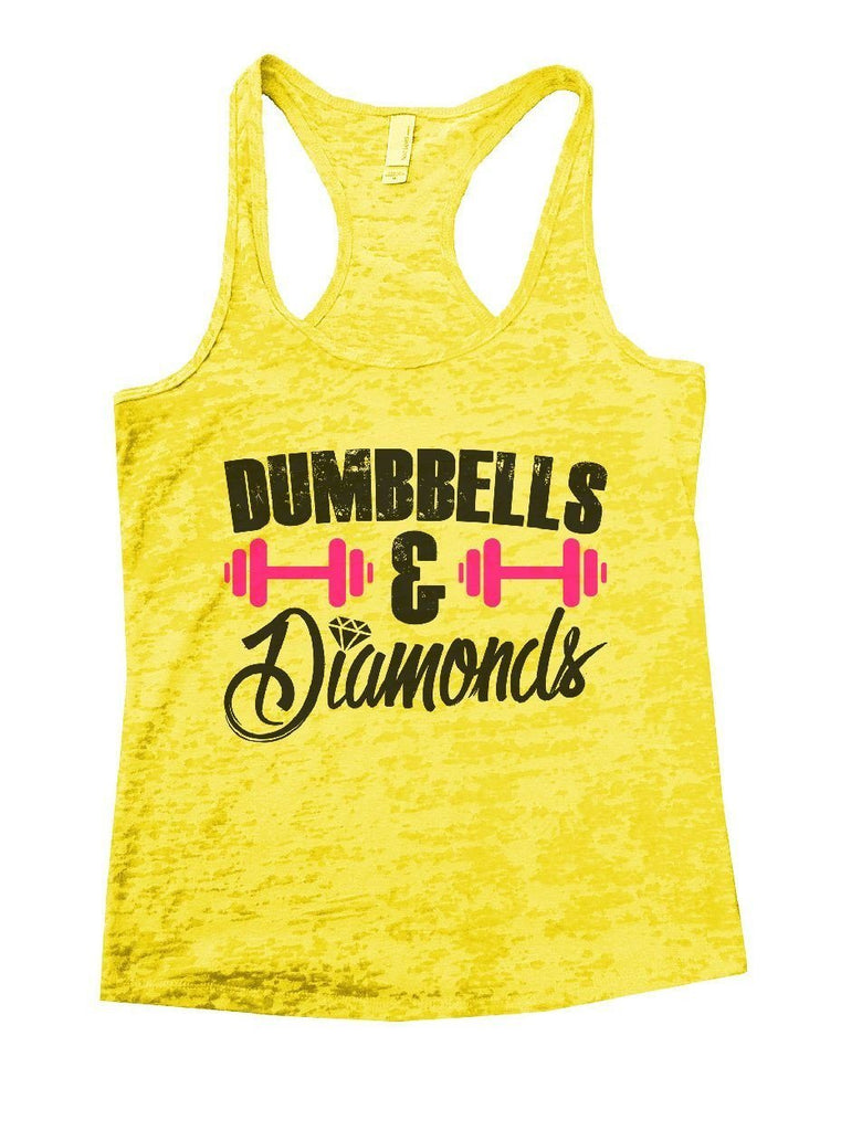 DUMBBELLS & Diamonds Burnout Tank Top By Funny Threadz Funny Shirt Small / Yellow