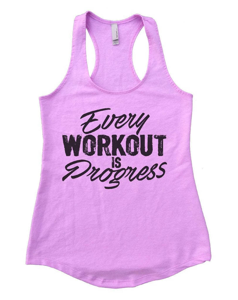 Every WORKOUT IS Progress Womens Workout Tank Top Funny Shirt Small / Lilac