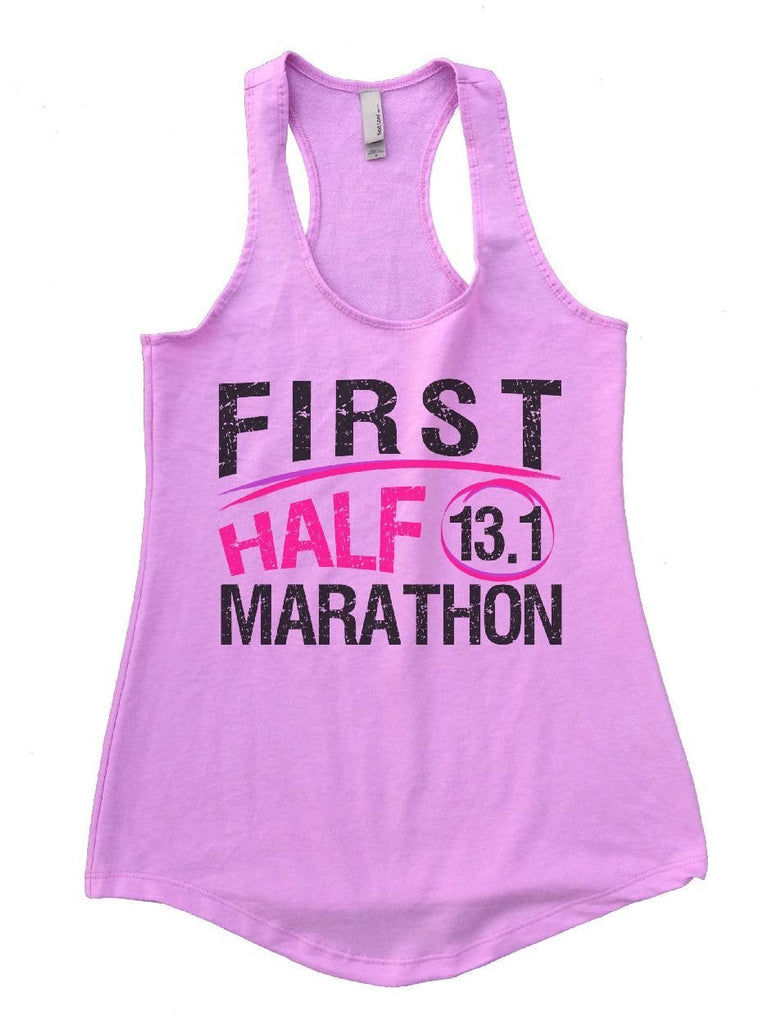 FIRST HALF 13.1 MARATHON Womens Workout Tank Top Funny Shirt Small / Lilac