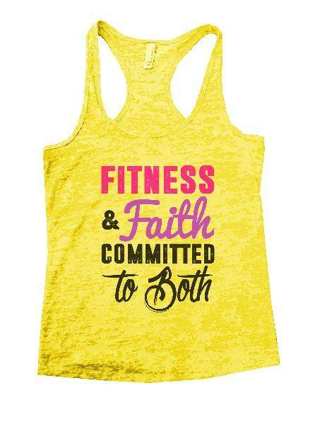 Fitness & Faith Committed To Both Burnout Tank Top By Funny Threadz Funny Shirt Small / Yellow