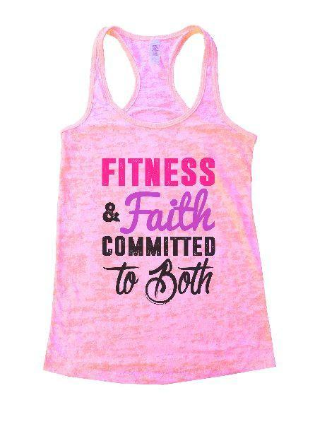 Fitness & Faith Committed To Both Burnout Tank Top By Funny Threadz Funny Shirt Small / Light Pink