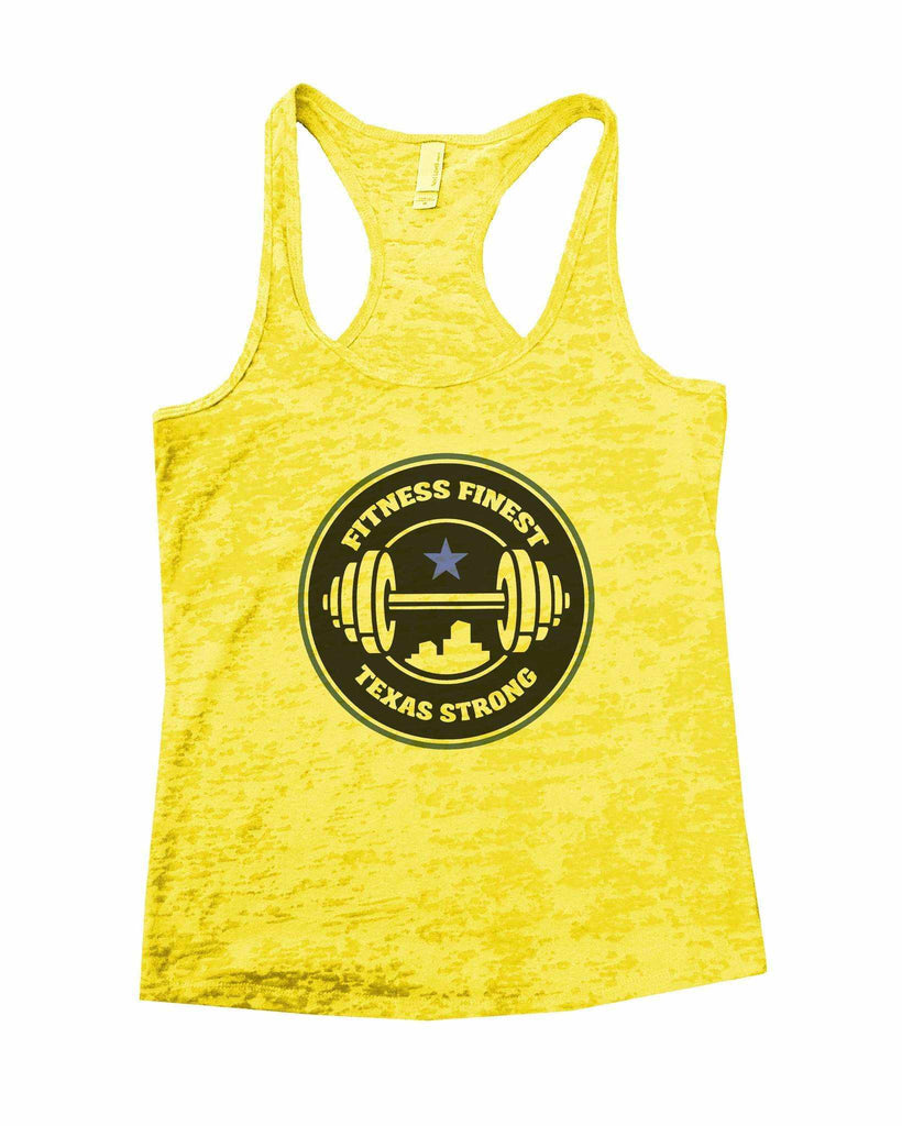 Fitness Finest Texas Strong Burnout Tank Top By Funny Threadz - FunnyThreadz.com