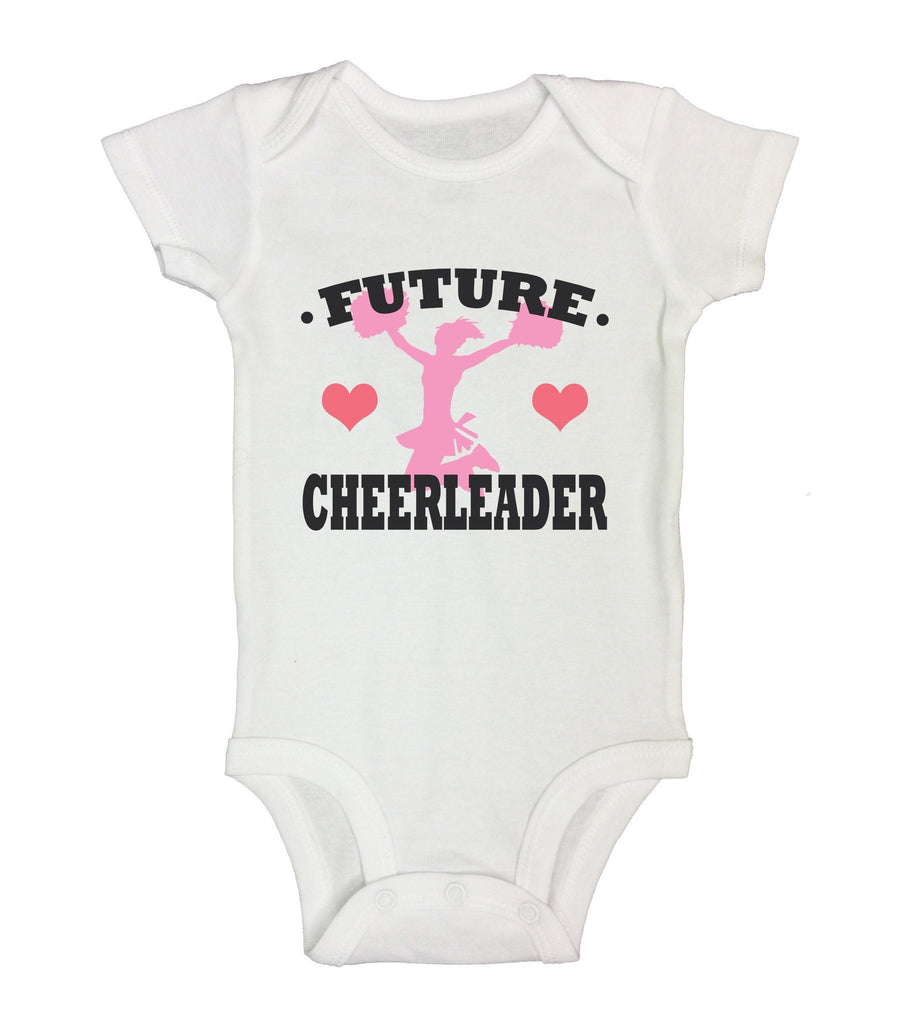 Future Cheerleader Funny Kids Onesie Funny Shirt Short Sleeve 0-3 Months