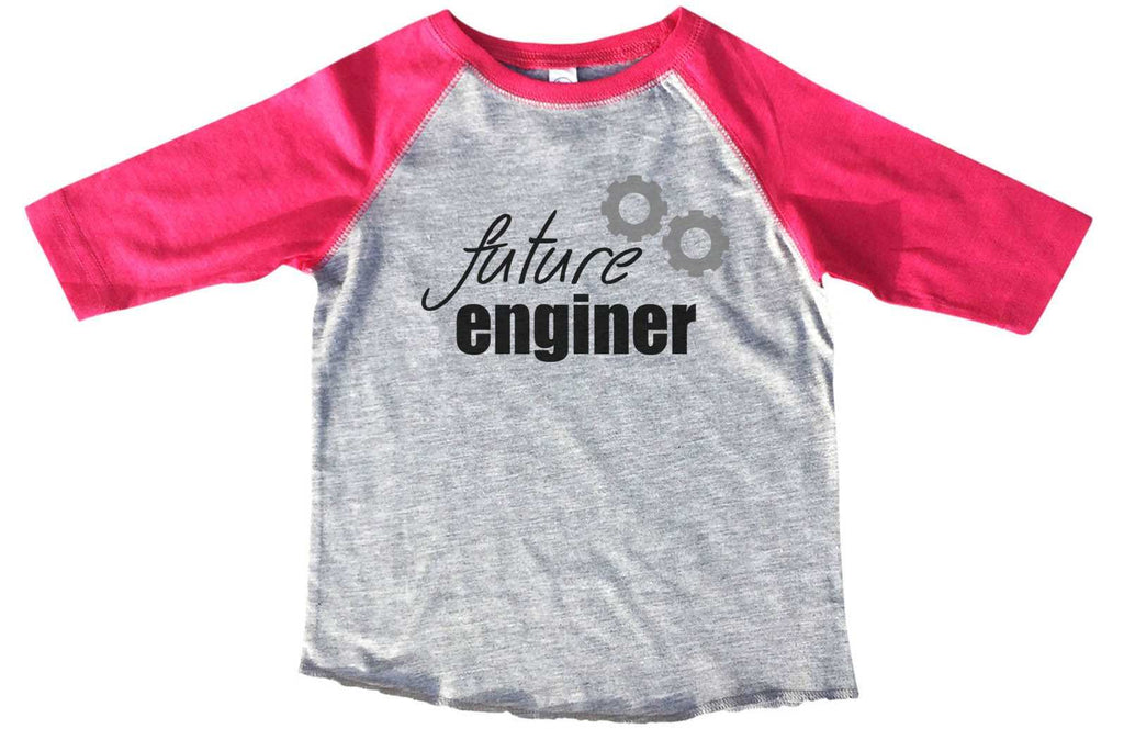 Future Enginer BOYS OR GIRLS BASEBALL 3/4 SLEEVE RAGLAN - VERY SOFT TRENDY SHIRT B797 - FunnyThreadz.com