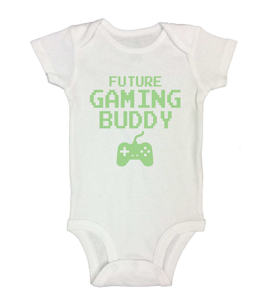 Future Gaming Buddy Funny Kids Onesie Funny Shirt Short Sleeve 0-3 Months
