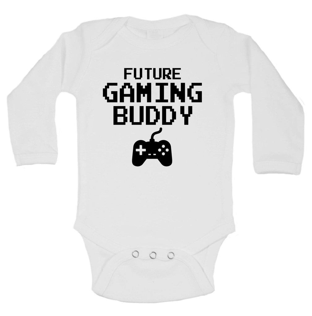 Future Gaming Buddy Funny Kids Onesie Funny Shirt Long Sleeve 0-3 Months