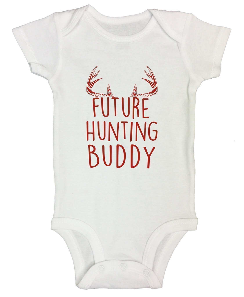 Future Hunting Buddy FUNNY KIDS ONESIE Funny Shirt Short Sleeve 0-3 Months