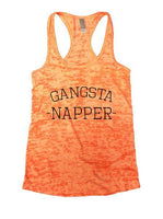 Gangsta Napper Burnout Tank Top By Funny Threadz Funny Shirt Small / Neon Orange