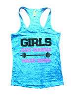 Girls Just Wanna Have Guns Burnout Tank Top By Funny Threadz Funny Shirt Small / Tahiti Blue