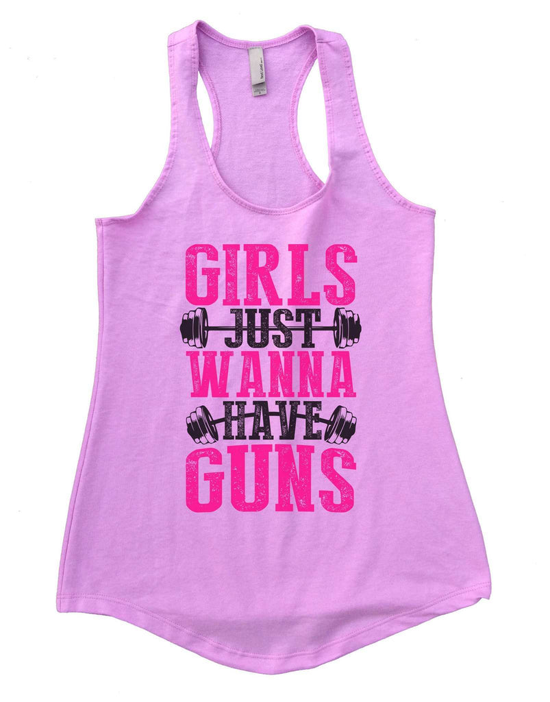 Girls Just Wanna Have Guns Womens Workout Tank Top Funny Shirt Small / Lilac