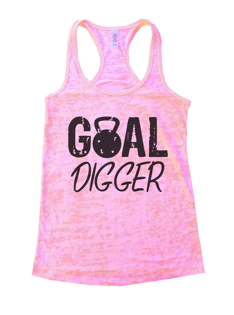Goal Digger Burnout Tank Top By Funny Threadz Funny Shirt Small / Light Pink