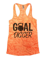Goal Digger Burnout Tank Top By Funny Threadz Funny Shirt Small / Neon Orange