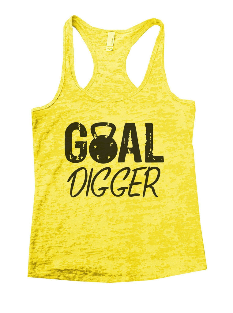 Goal Digger Burnout Tank Top By Funny Threadz Funny Shirt Small / Yellow