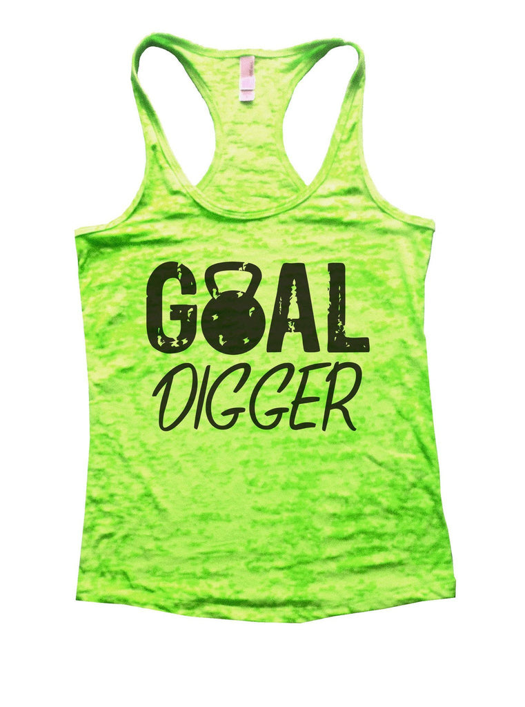 Goal Digger Burnout Tank Top By Funny Threadz Funny Shirt Small / Neon Green
