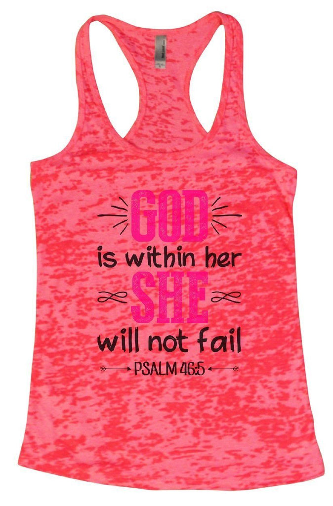 GOD Is Within Her SHE Will Not Fail Burnout Tank Top By Funny Threadz - FunnyThreadz.com