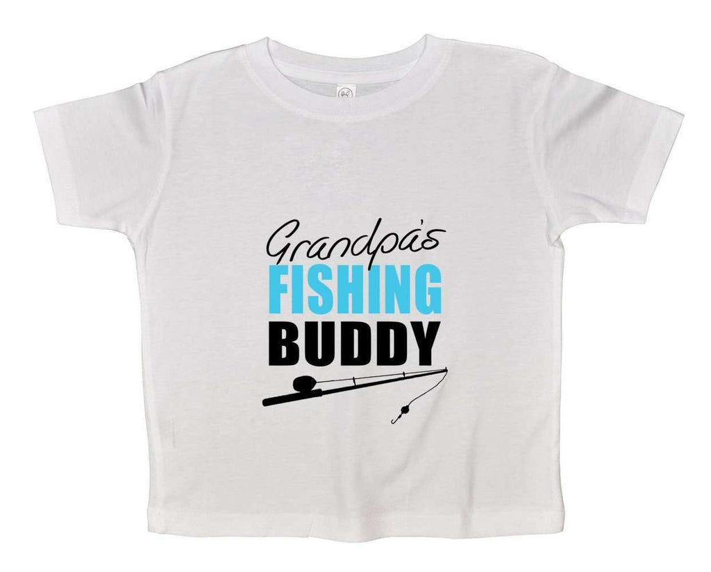 Grandpas Fishing Buddy Funny Kids Onesie Funny Shirt 2T White Shirt