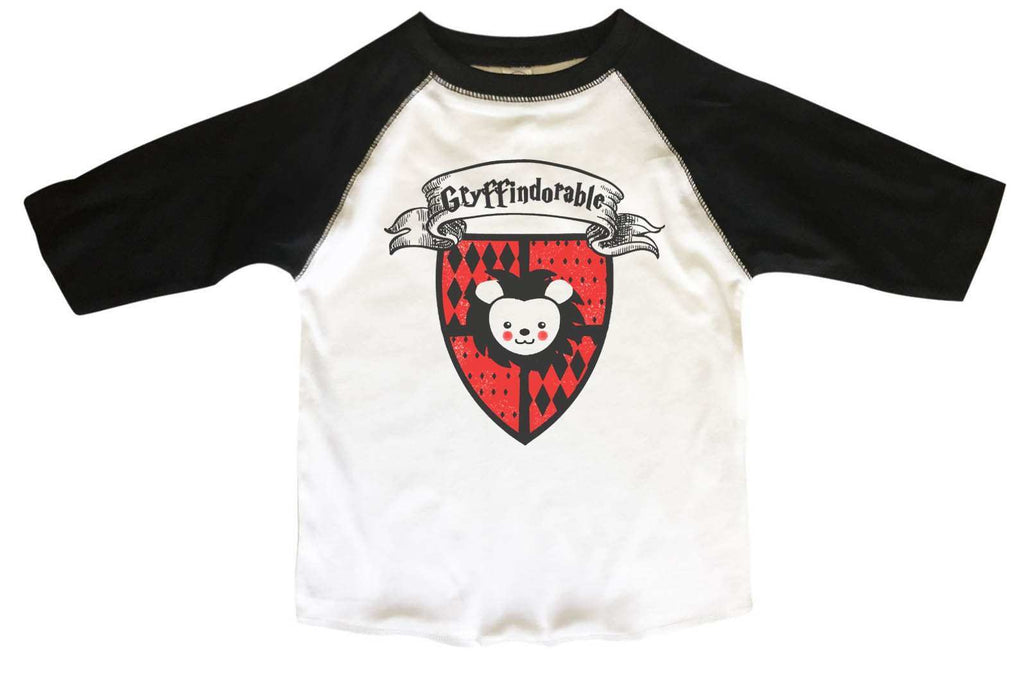 Gryffindorable BOYS OR GIRLS BASEBALL 3/4 SLEEVE RAGLAN - VERY SOFT TRENDY SHIRT B367 Funny Shirt 2T Toddler / Black