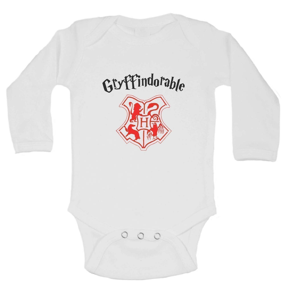 Gryffindorable Funny Kids Onesie Funny Shirt Long Sleeve 0-3 Months