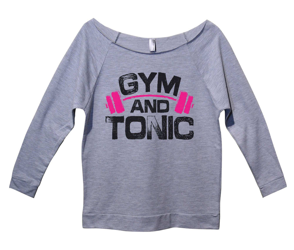 Gym And Tonic Womens 3/4 Long Sleeve Vintage Raw Edge Shirt Funny Shirt Small / Grey