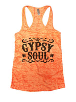 Gypsy Soul Burnout Tank Top By Funny Threadz Funny Shirt Small / Neon Orange