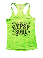 Gypsy Soul Burnout Tank Top By Funny Threadz Funny Shirt Small / Neon Green