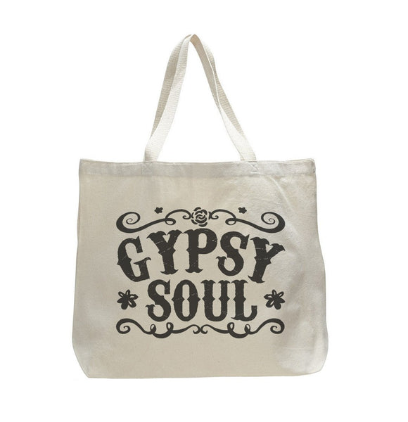 Gypsy Soul - Trendy Natural Canvas Bag - Funny and Unique - Tote Bag Funny Shirt