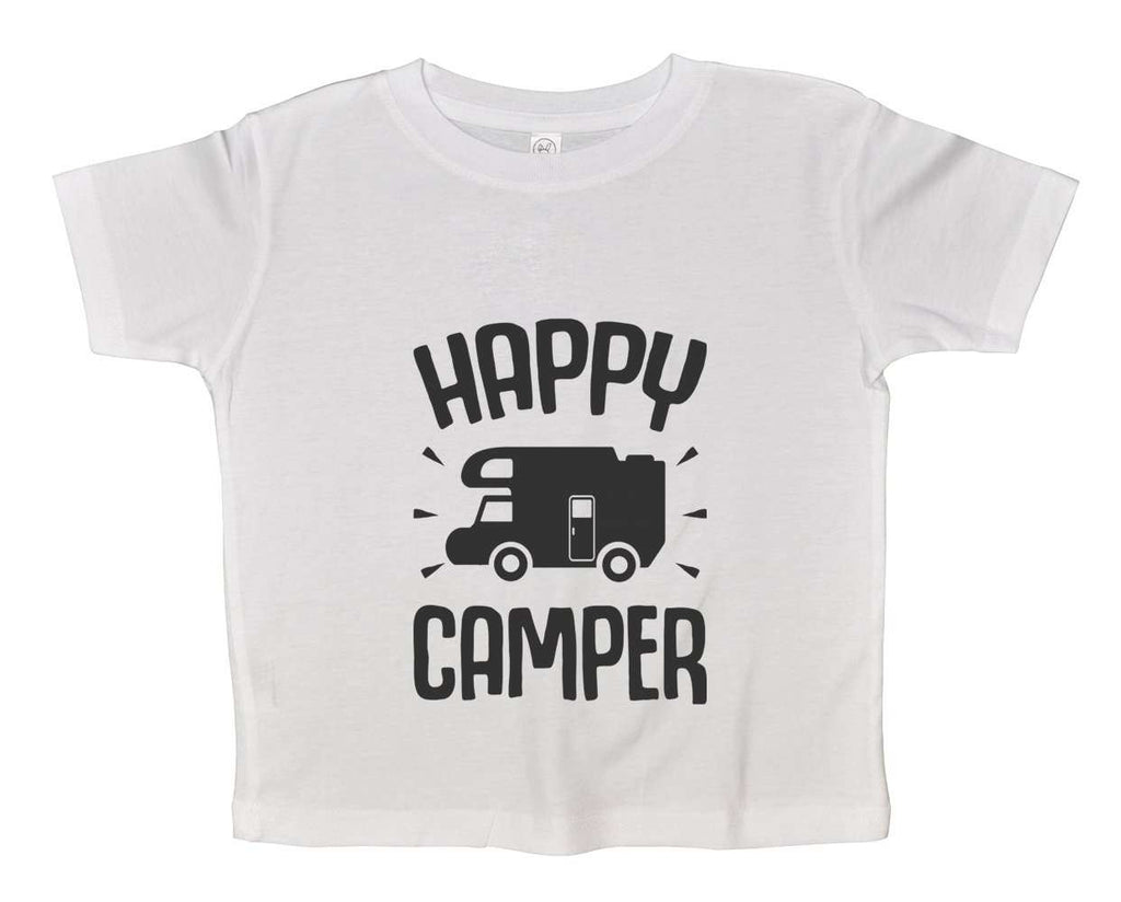 Happy Camper Funny Kids Onesie Funny Shirt 2T White Shirt