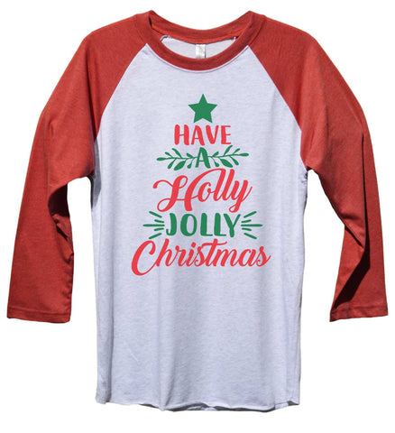 Santas Favorite Ho Funny Christmas - Unisex Baseball Tee Mens and womens