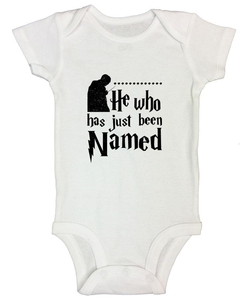 He Who Has Just Been Named Funny Kids Onesie Funny Shirt Short Sleeve 0-3 Months