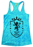 Hear Me Roar Lannister Burnout Tank Top By Funny Threadz Funny Shirt Small / Tahiti Blue