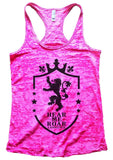 Hear Me Roar Lannister Burnout Tank Top By Funny Threadz Funny Shirt Small / Shocking Pink
