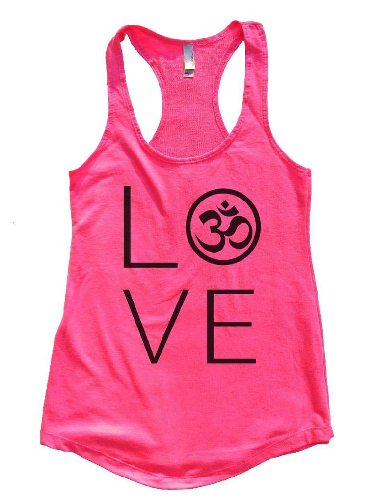 Heart I Love Ohm Womens Workout Tank Top Funny Shirt Small / Hot Pink