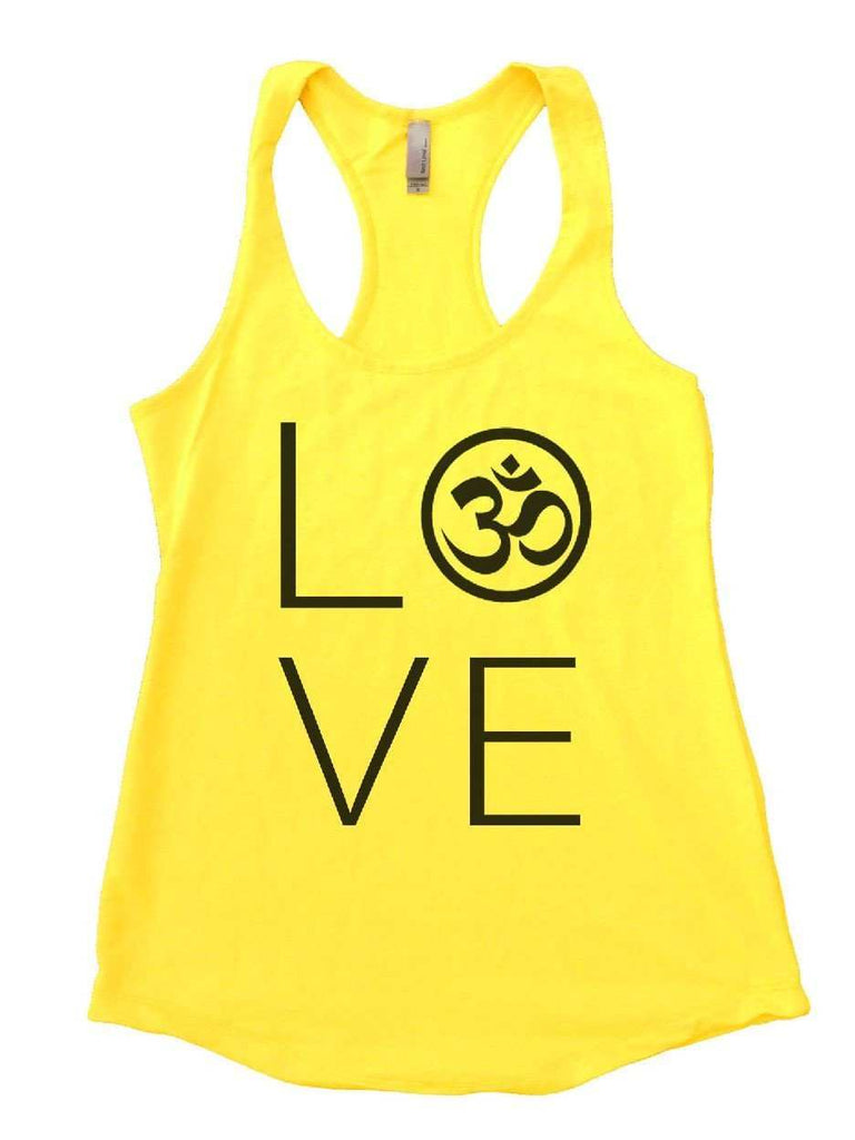 Heart I Love Ohm Womens Workout Tank Top Funny Shirt Small / Yellow
